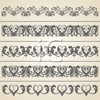 Royalty Free Clipart Image of a Set of Borders