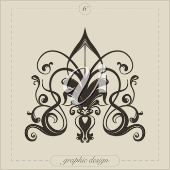 Royalty Free Clipart Image of a Design Element