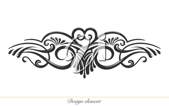 Ilustration of a hand drawn design element for decorations .