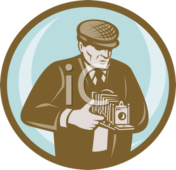 Royalty Free Clipart Image of a Photographer
