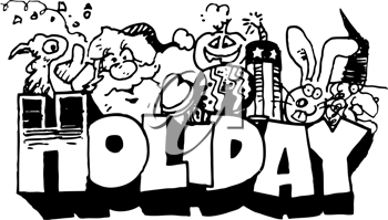 Royalty Free Clipart Image of a Holiday Design