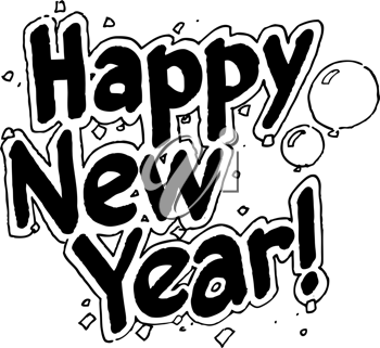 Royalty Free Clipart Image of a Happy New Year