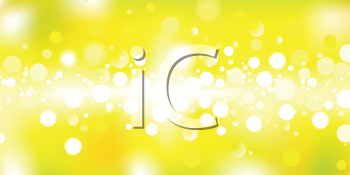 Royalty Free Clipart Image of a Spotted Yellow Background