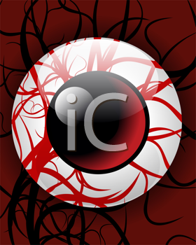 Royalty Free Clipart Image of a Bloodshot Eye