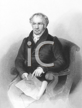 Royalty Free Photo of Alexander von Humboldt (1769-1859) on engraving from the 1800s. German naturalist and explorer. Engraved by A.H.Payne and published in London by Brain & Payne.