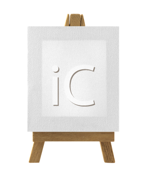 Royalty Free Photo of an Easel With Blank Canvas