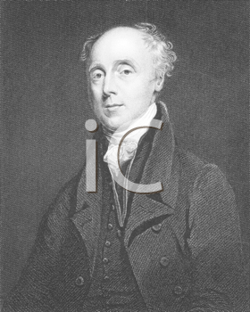Royalty Free Photo of Francis Wrangham (1769-1842) on engraving from the 1800s. Archdeacon of East Riding, author, translator, book collector and abolitionist. Engraved by R.Hicks after a painting by
