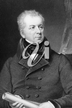 Isaac Gascoyne (1763-1841) on engraving from 1837. British Army officer and Tory politician. Engraved by Scriven after a painting by Lonsdale and published by G.Virtue.
