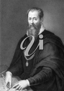 Lorenzo de' Medici (1449-1492) on copper engraving from 1841. Also known as Lorenzo the Magnificent he was an Italian statesman and de facto ruler of the Florentine Republic during the Italian Renaiss