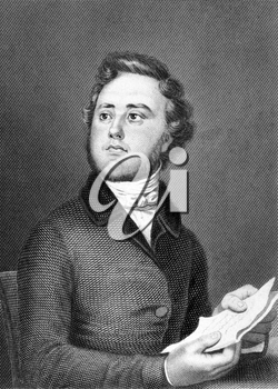 Alexandre Auguste Ledru-Rollin (1807-1874) on engraving from 1859. French politician. Engraved by unknown artist and published in Meyers Konversations-Lexikon, Germany,1859.