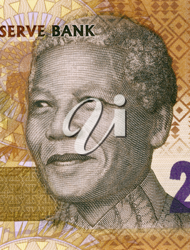 Nelson Mandela (born 1918) on 20 Rand 2012 Banknote from South Africa. South African anti-apartheid activist, revolutionary and politician who served as President of South Africa during 1994-1999.