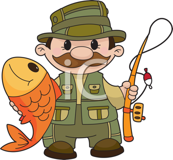 Royalty Free Clipart Image of an Angler