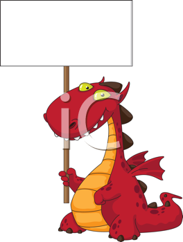 illustration of a dragon and blank