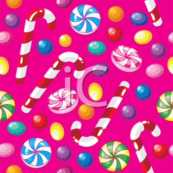illustration of a seamless pattern funny candies