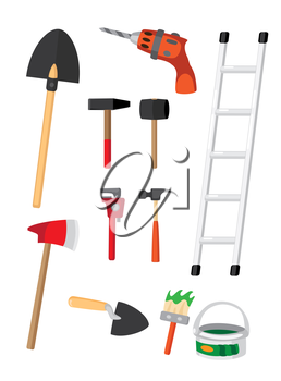 illustration of a set of tools