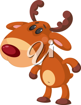 illustration of a funny deer