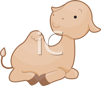 Royalty Free Clipart Image of a Camel