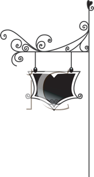 Royalty Free Clipart Image of a Sign