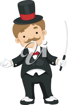 Royalty Free Clipart Image of a Circus Trainer