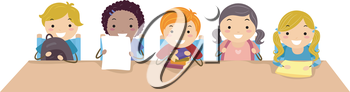 Royalty Free Clipart Image of Children
