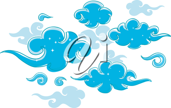 Illustration of Abstract Clouds