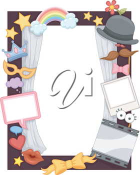 Illustration of a Photo Frame Made for Events and Birthday Parties