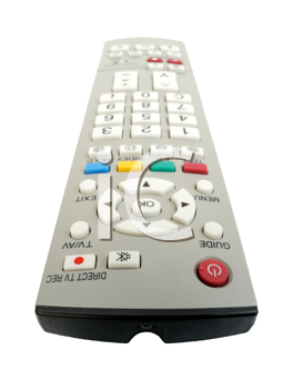 Remote control on a white background, isolated