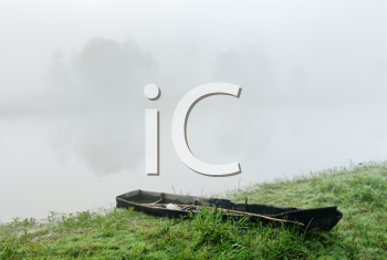 Royalty Free Photo of Fog on a River