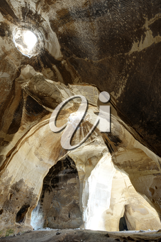 Luzit caves of bell type in Israel, dwelling of the ancient people.