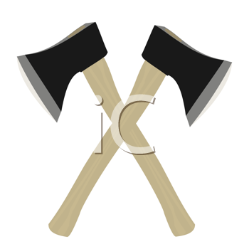 Royalty Free Clipart Image of Two Axes