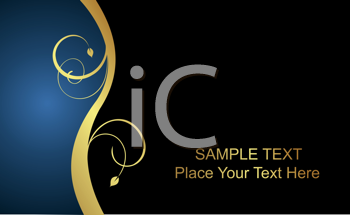 Royalty Free Clipart Image of a Luxury Business Card