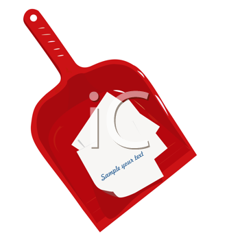 Royalty Free Clipart Image of a Broom Sweeper
