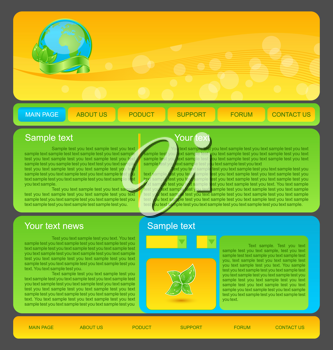 Illustration eco nature environmental web template - vector