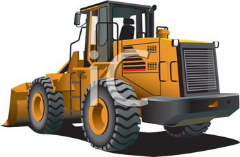 Royalty Free Clipart Image of a Bulldozer