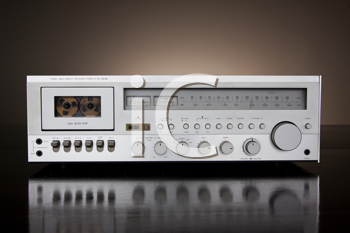 Royalty Free Photo of an Analog Audio Stereo Cassette Tape Recorder