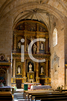 Royalty Free Photo of a Church Interior in Salamanca, Spain