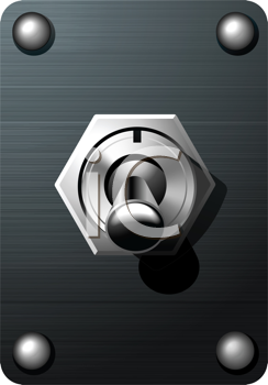 Royalty Free Clipart Image of an Analog Toggle Switch