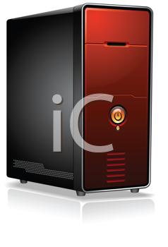 Royalty Free Clipart Image of a Computer Server