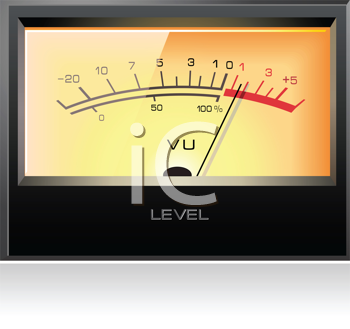 Royalty Free Clipart Image of a Signal VU Meter