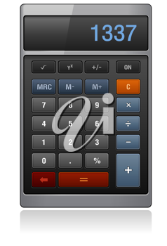 Royalty Free Clipart Image of a Calculator