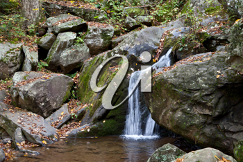 Royalty Free Photo of a Small Waterfall in a Waterfall