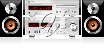 Royalty Free Clipart Image of a Stereo