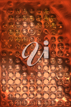 copper metal background cowered with dots