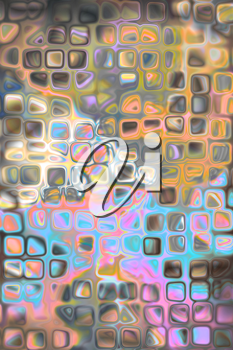 colorful background illustration of colored dots and blur