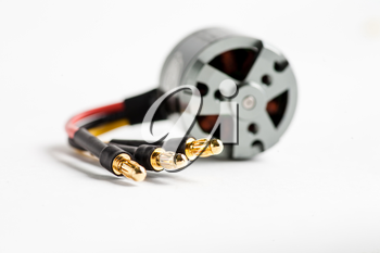 Wires of electric motor (shallow DOF)