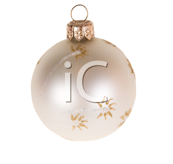 white christmas decoration isolated on white background