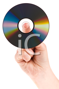 Royalty Free Photo of a Person Holding a Disc