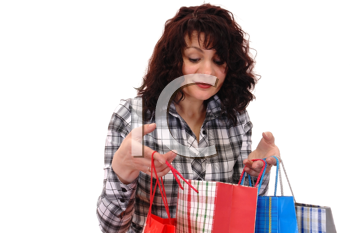 Royalty Free Photo of a Woman Holding Shopping Bags