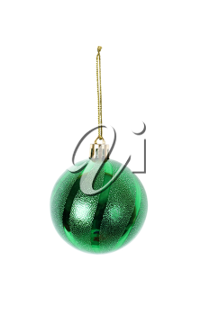 green christmas decoration isolated on white background