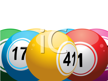 Royalty Free Clipart Image of a Close-up of Lottery Balls